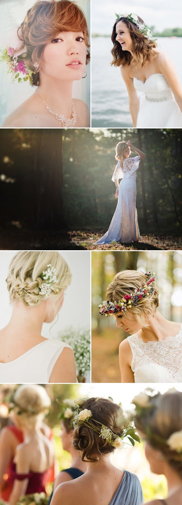 Deer Pearl Flowers In Latest Country Wedding Hairstyles For Short Hair (View 9 of 15)