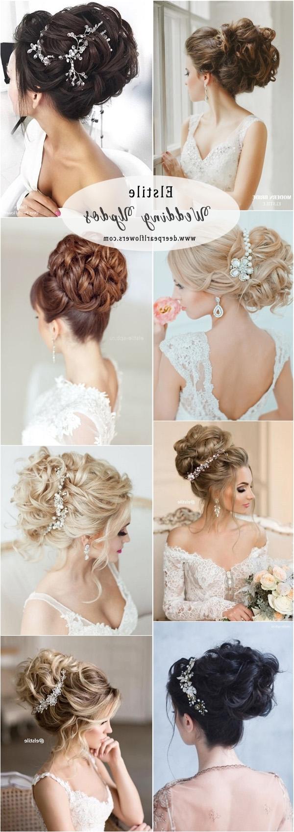 Deer Pearl Flowers In Preferred Elstile Wedding Hairstyles For Long Hair (View 5 of 15)