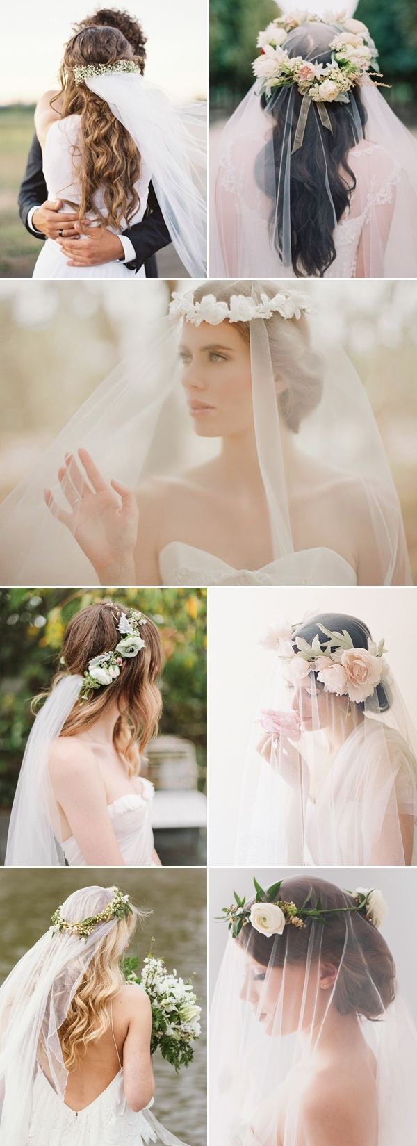 Deer Pearl Flowers Inside Most Popular Wedding Hairstyles With Veil And Flower (View 14 of 15)