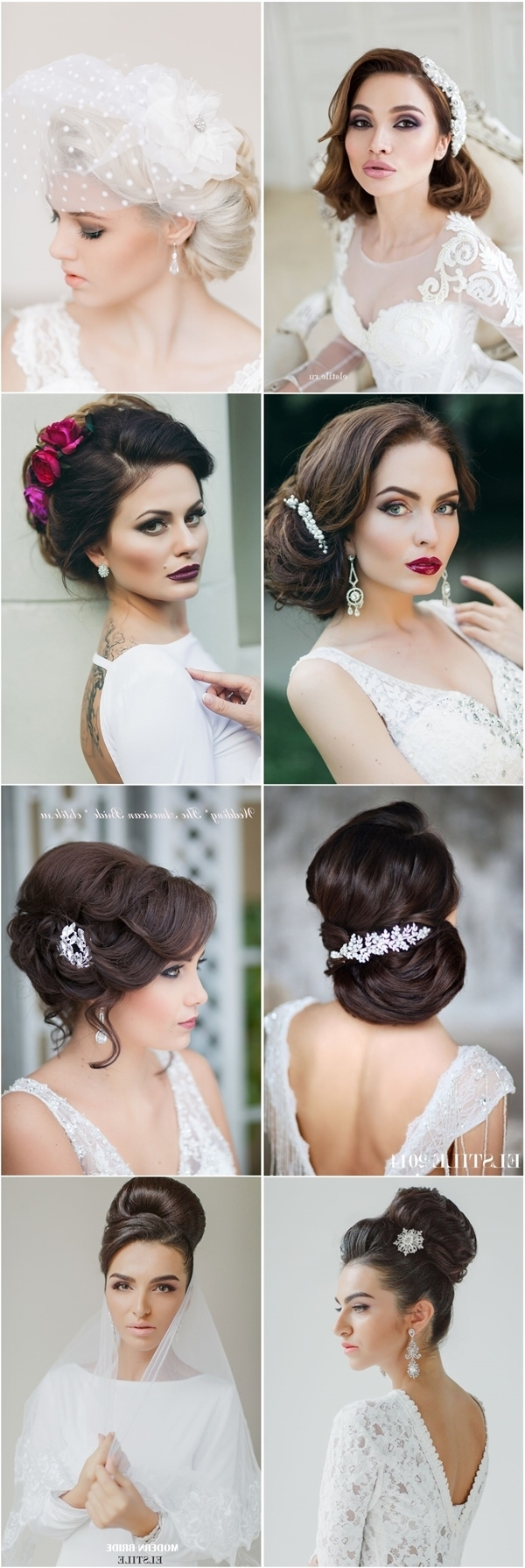 Deer Pearl Flowers With Latest Retro Wedding Hairstyles (View 4 of 15)