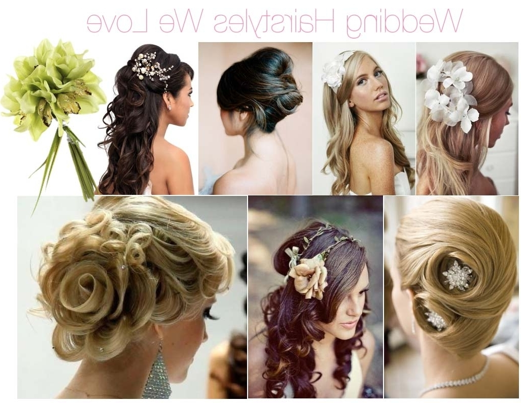 Different Hairstyles For Wedding Side Swept Ponytail Ideas Of Within Most Recent Curls To The Side Wedding Hairstyles (Gallery 15 of 15)