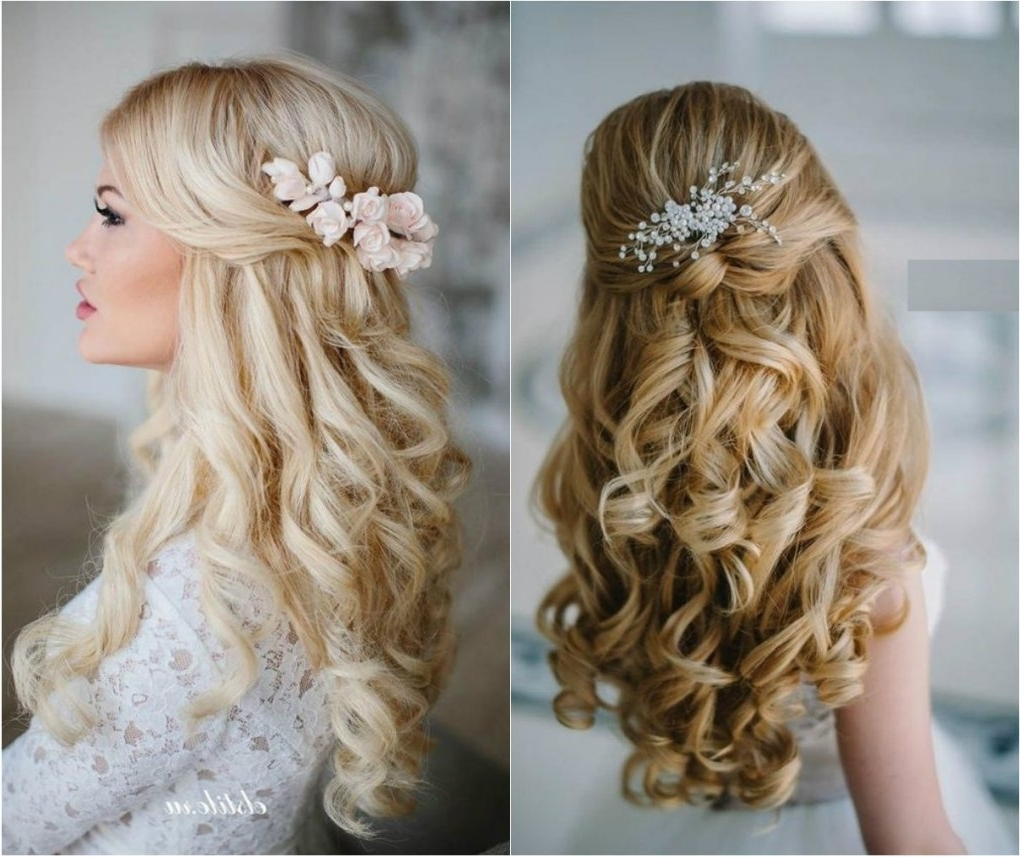 Do Wedding Hairstyles Chic Medium Hair Down Wedding Hair Styles For Preferred Down Medium Hair Wedding Hairstyles (Gallery 5 of 15)