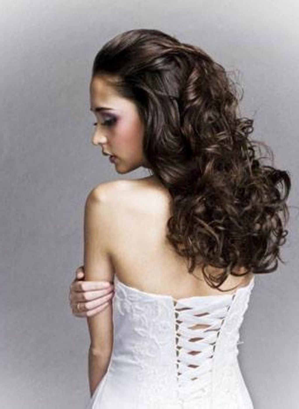 √ 24+ Lovely Hairstyles For Long Curly Thick Hair: Wedding In Best And Newest Wedding Hairstyles For Long Thick Hair (View 6 of 15)