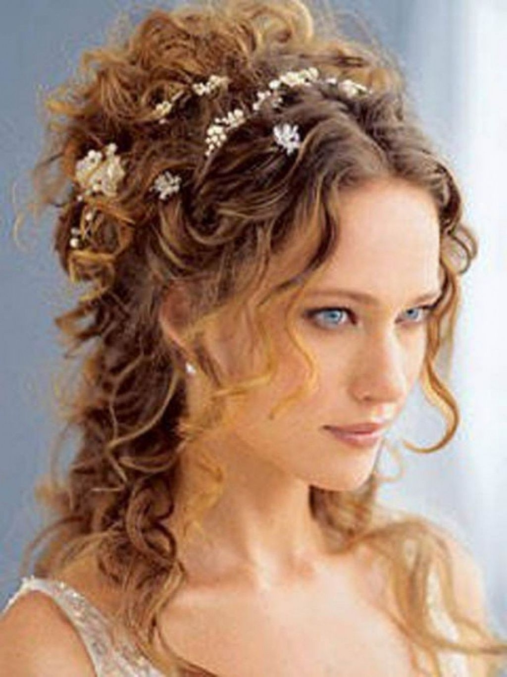 √ 24+ Nice Natural Curly Hair Hairstyles: Wedding Hairstyles Throughout Most Current Wedding Hairstyles For Short Curly Hair (View 14 of 15)