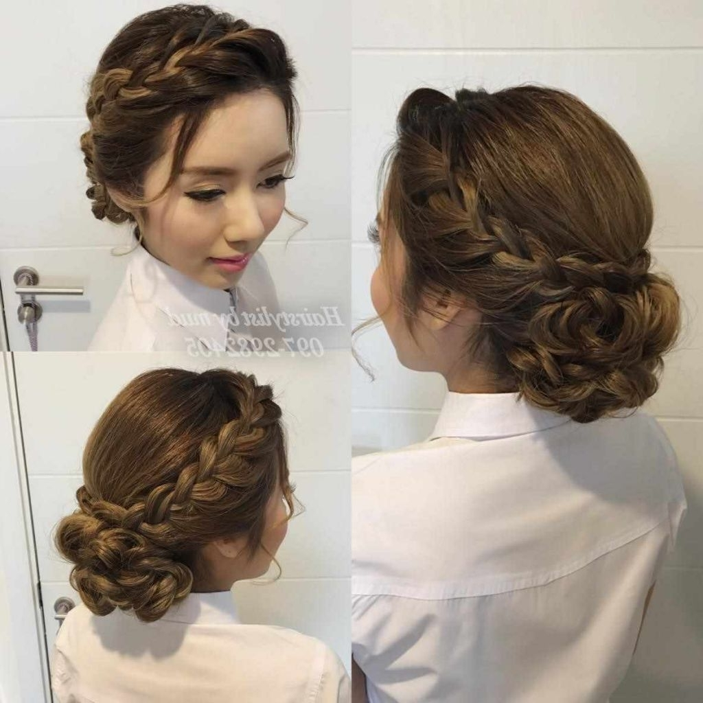 Photo Gallery Of Wedding Easy Hairstyles For Medium Hair Viewing 3