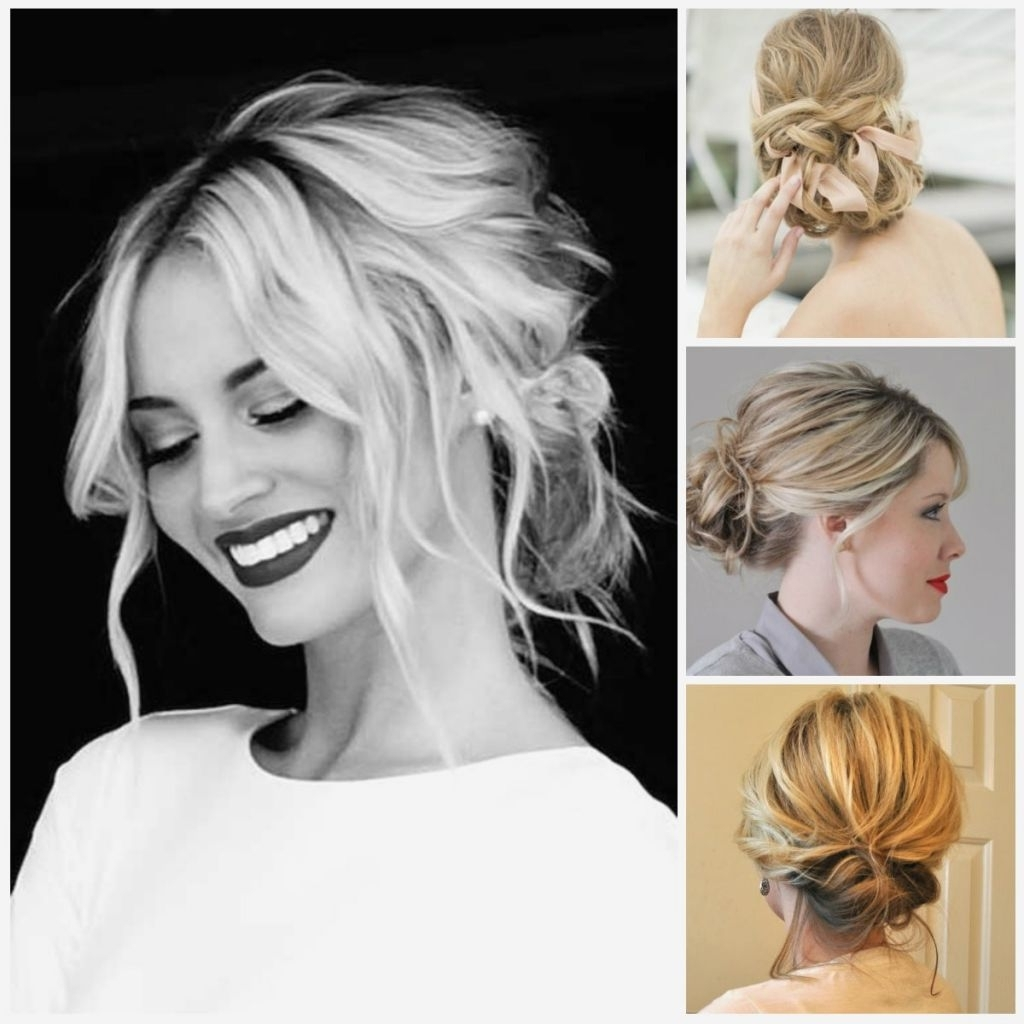 √ 24+ Winning Wedding Hairstyles For Shoulder Length Hair: Wedding Inside 2017 Bridesmaid Hairstyles For Short To Medium Length Hair (View 2 of 15)