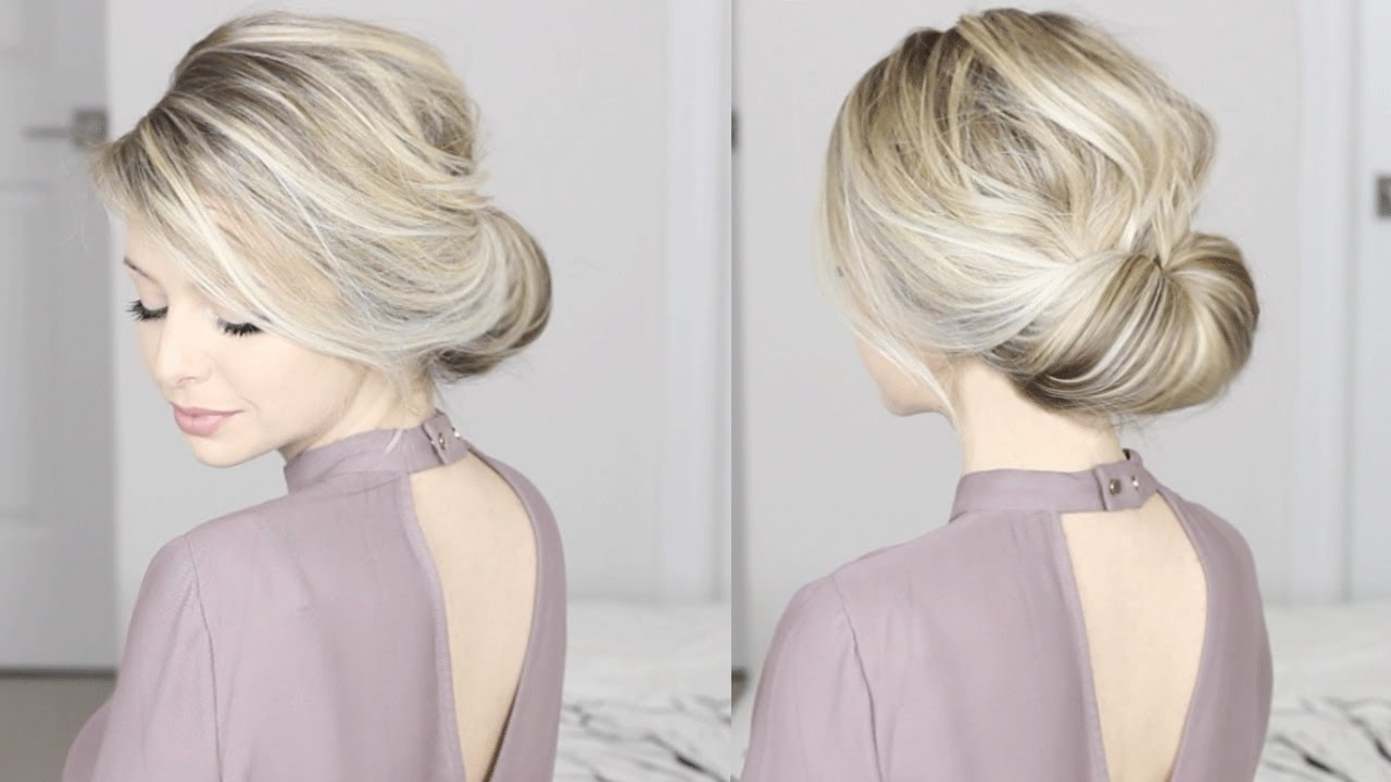 Easiest Updo Ever! Super Simple & Perfect For Long, Medium Throughout Newest Elegant Wedding Hairstyles For Medium Length Hair (View 4 of 15)