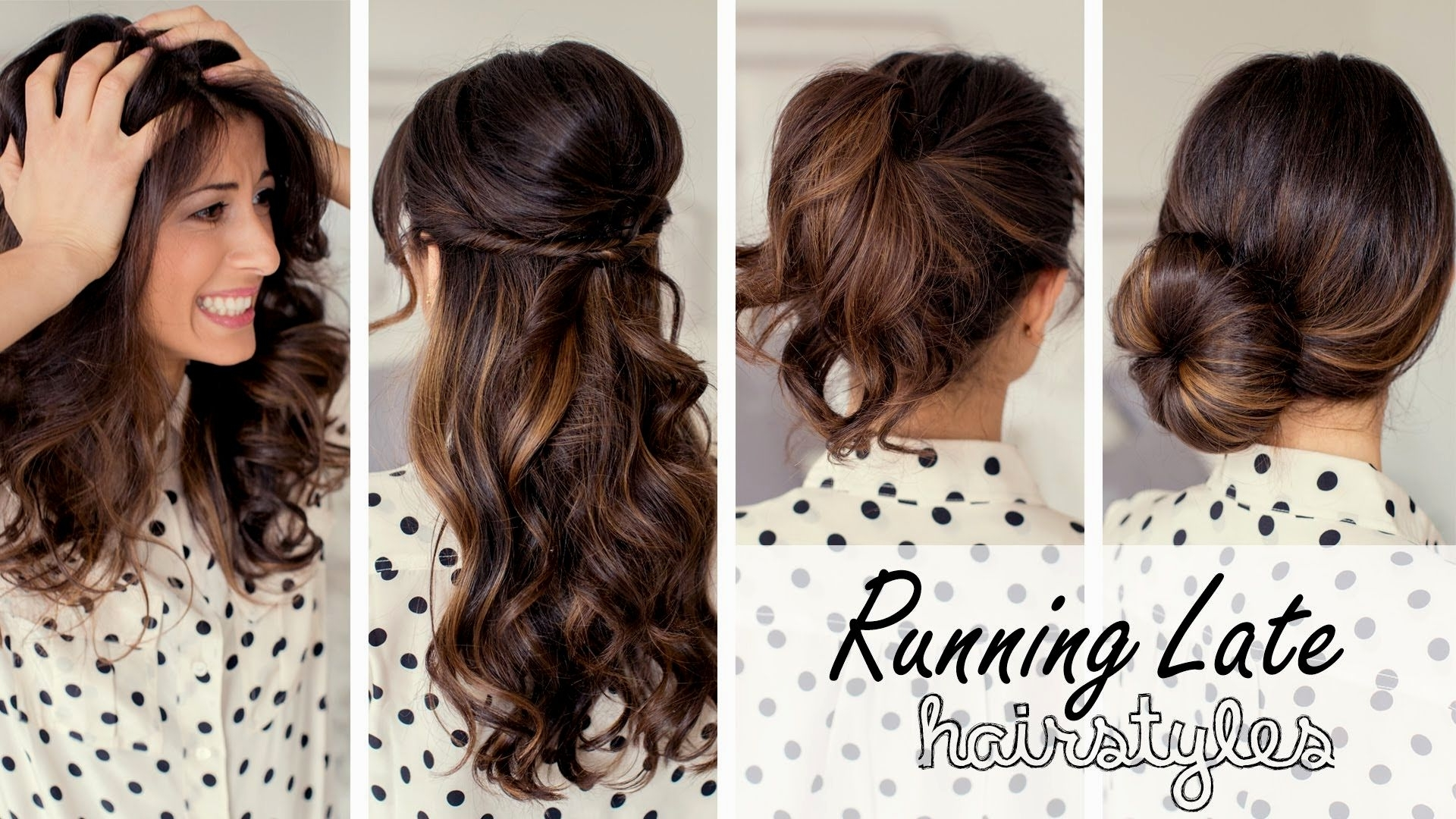 Easy Hairstyles For Long Hair To Do At Home Stepstep Video Throughout Fashionable Wedding Hairstyles That You Can Do At Home (View 5 of 15)