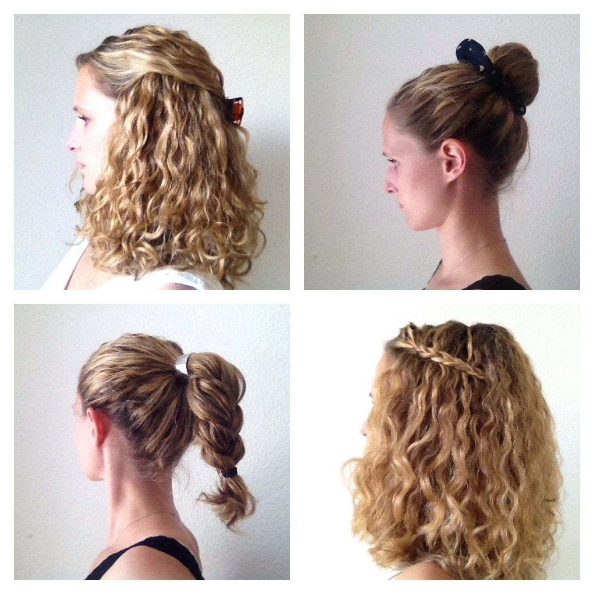 Easy Hairstyles Forong Naturally Curly Hair Quick Mediumength Cute For Favorite Easy Wedding Hairstyles For Long Curly Hair (View 7 of 15)