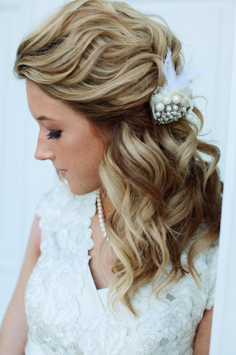 Easy Half Up Down Hairstyle Tutorials For Prom The Cute Formal Pertaining To Current Bridal Hairstyles For Medium Length Thin Hair (View 3 of 15)
