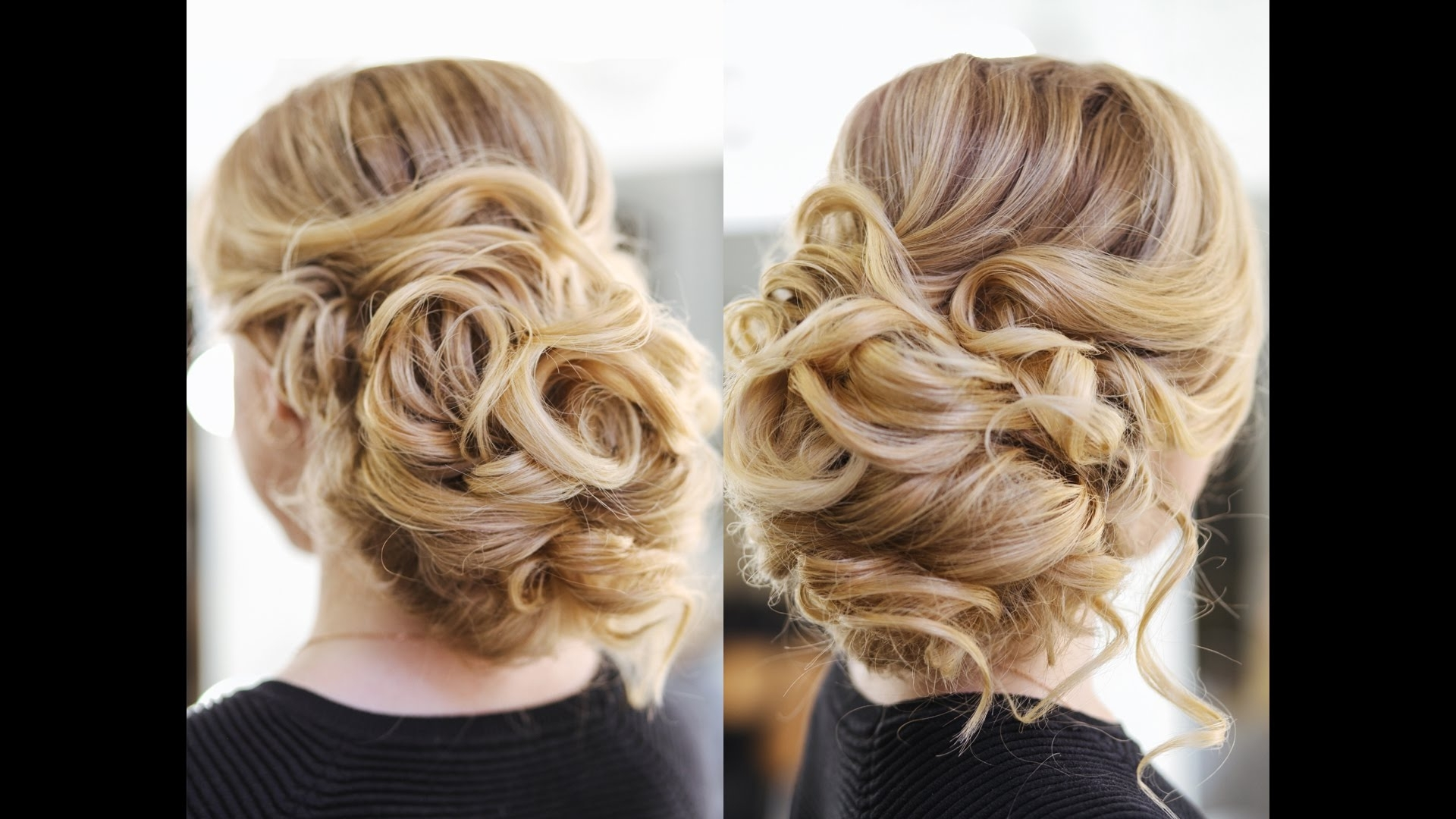 Easy Wedding Updo With Curls Prom Hairstyles Hair Tutorial – Youtube Pertaining To Preferred Updos With Curls Wedding Hairstyles (Gallery 7 of 15)