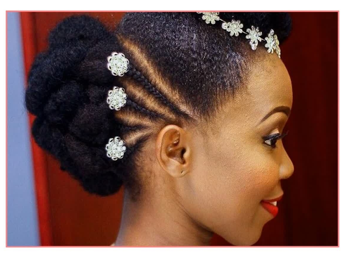 Elegant Hairstyles African Bridal Hairstyles 2017 – Best Hairstyles Pertaining To Best And Newest Wedding Hairstyles For African Hair (Gallery 8 of 15)