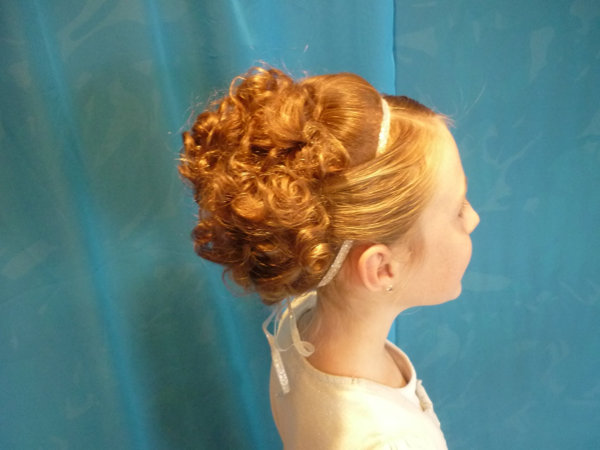 Elegant Updo With Curls For Medium Length Hair – Youtube Throughout 2017 Childrens Wedding Hairstyles For Short Hair (View 4 of 15)