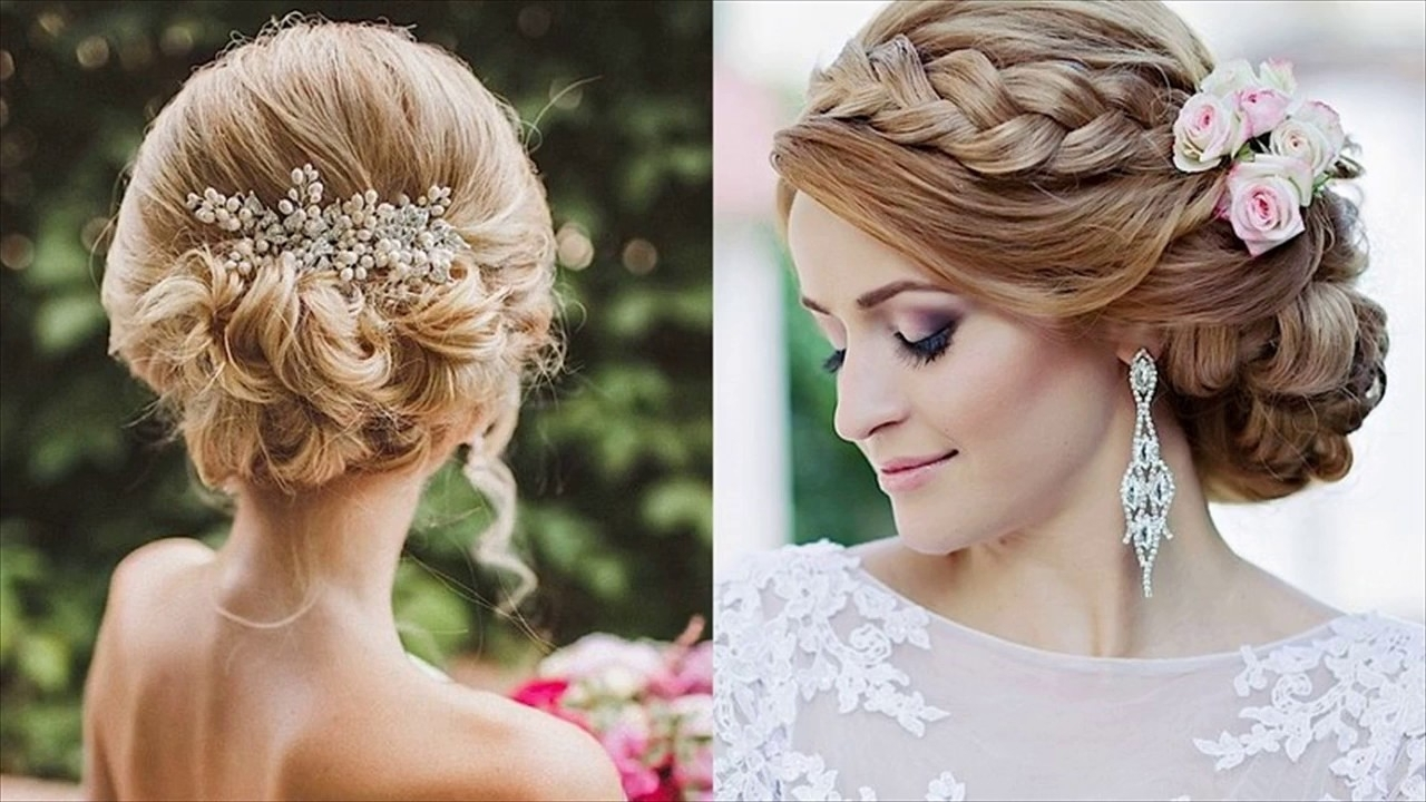 Elegant Updos And More Beautiful Wedding Hairstyles – Youtube Intended For Latest Elegant Updo Wedding Hairstyles (View 6 of 15)