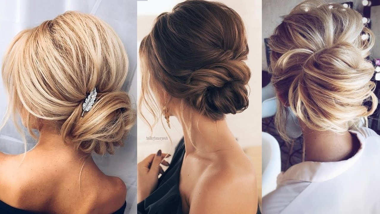 Elegant Wedding Updos For Long Hair ? 2018 Bridal Hairstyles – Youtube With Regard To Fashionable Elegant Wedding Hairstyles For Bridesmaids (View 6 of 15)