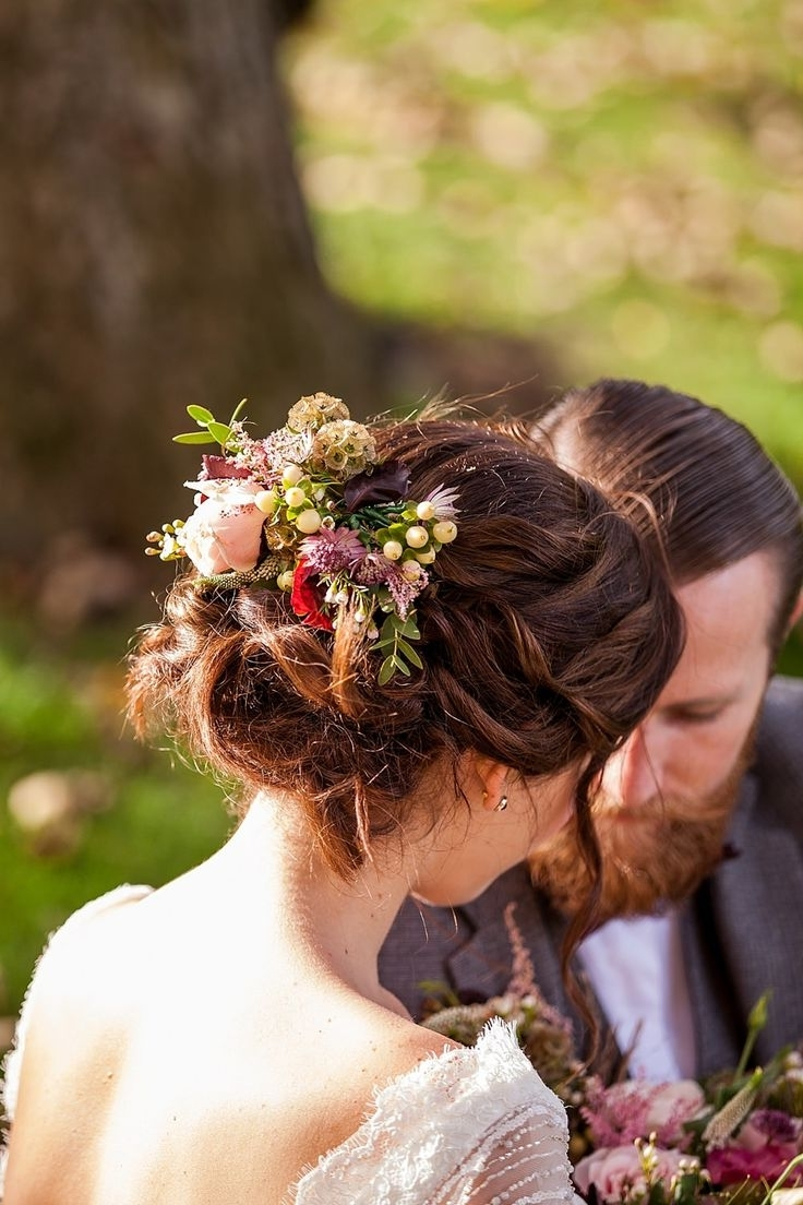Ever With Most Recent Wedding Hairstyles With Flowers (View 15 of 15)