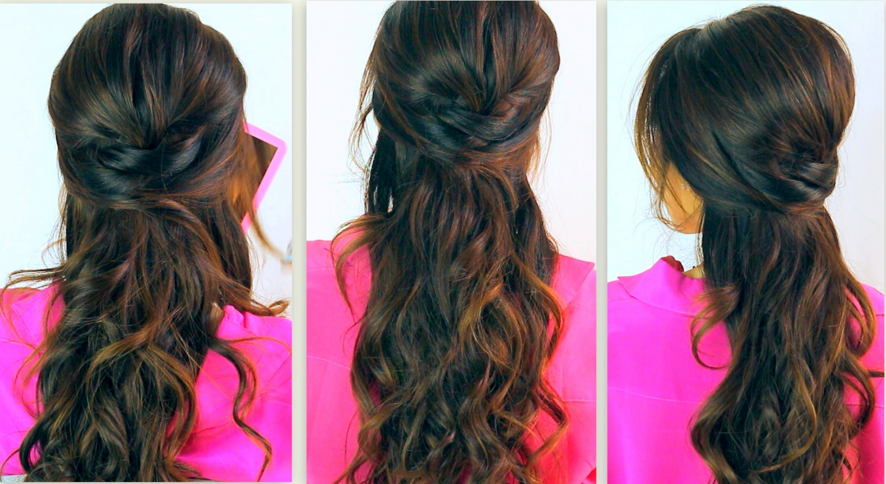 Everyday Prom Curly Half Up Regarding Most Popular Hair Half Up Half Down Wedding Hairstyles Long Curly (View 2 of 15)