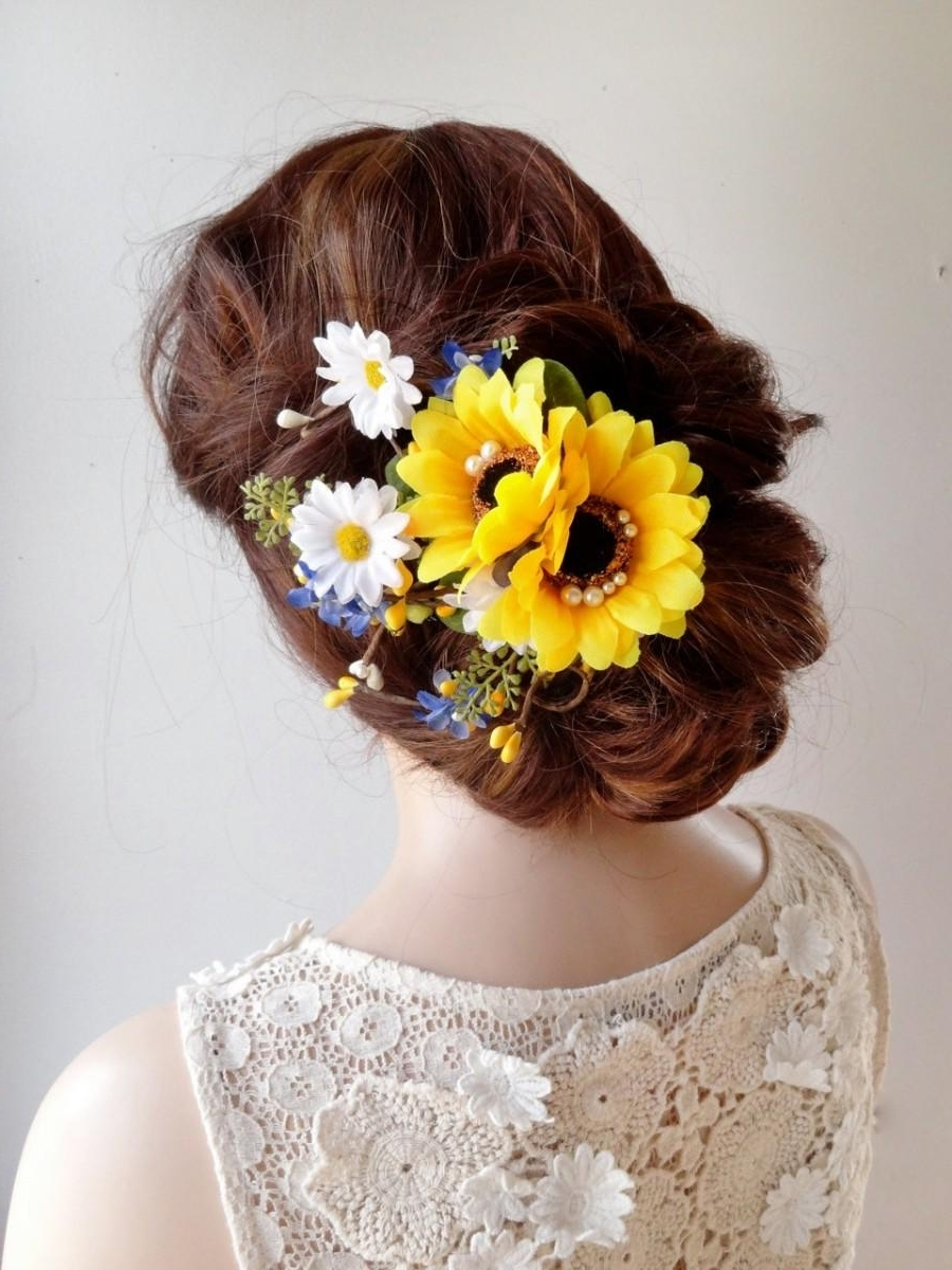 Fade Haircut Intended For Most Current Wedding Hairstyles With Sunflowers (View 3 of 15)
