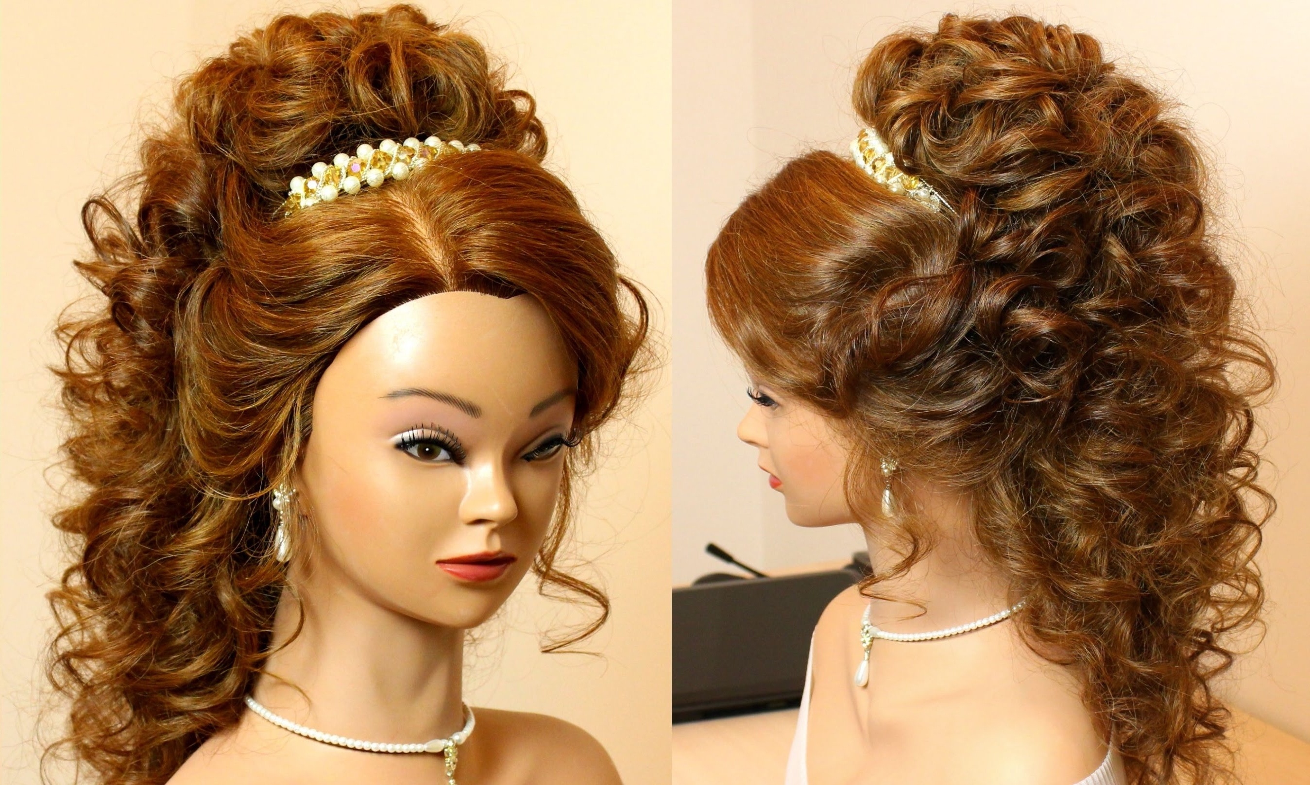 Famous Curly Wedding Hairstyles Inside Pleasing Long Curly Hair Wedding Hairstyles On Curly Bridal (View 12 of 15)