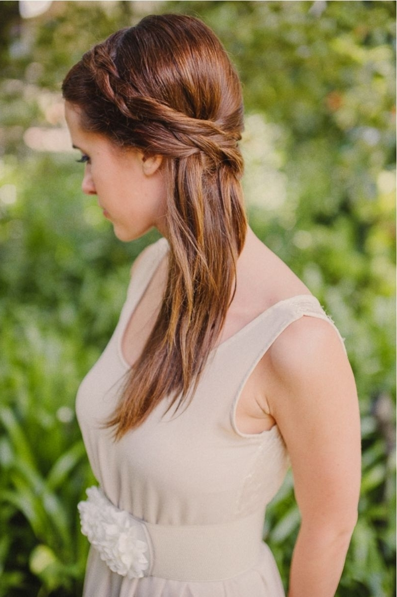Famous Down Straight Wedding Hairstyles Throughout Half Up Half Down Wedding Hairstyles For Thin Hair (View 12 of 15)