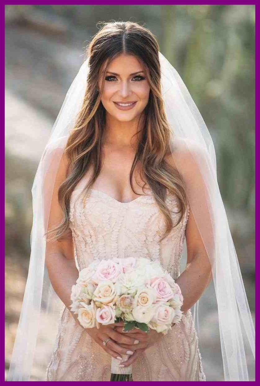 Famous Half Up Half Down With Veil Wedding Hairstyles For Fascinating Tips Easy With Veil Party Wedding Hairstyle Half Up (View 4 of 15)