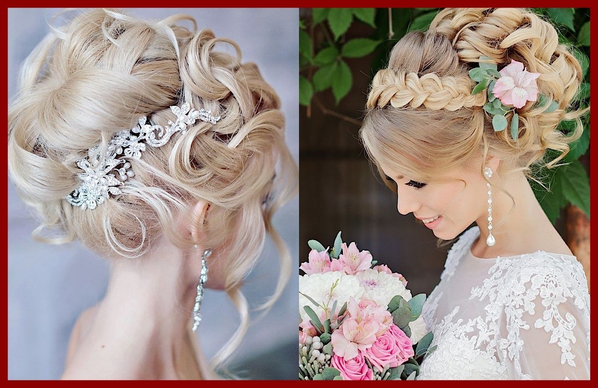 Famous High Updos Wedding Hairstyles Regarding Stunning Glamorous Wedding With Elegance Modwedding Image For High (View 7 of 15)