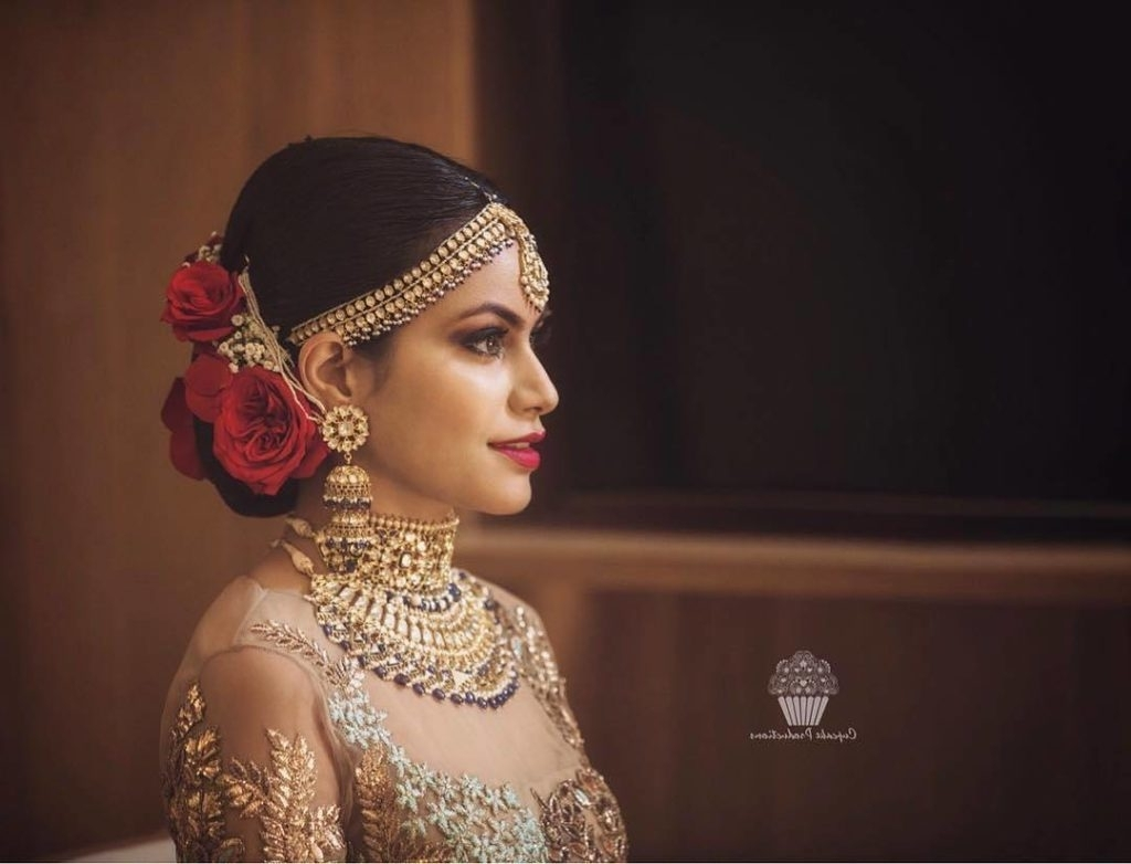 Famous Indian Bun Wedding Hairstyles Pertaining To Hairstyle Trends For All Your Wedding Functions – Decoded! (View 7 of 15)