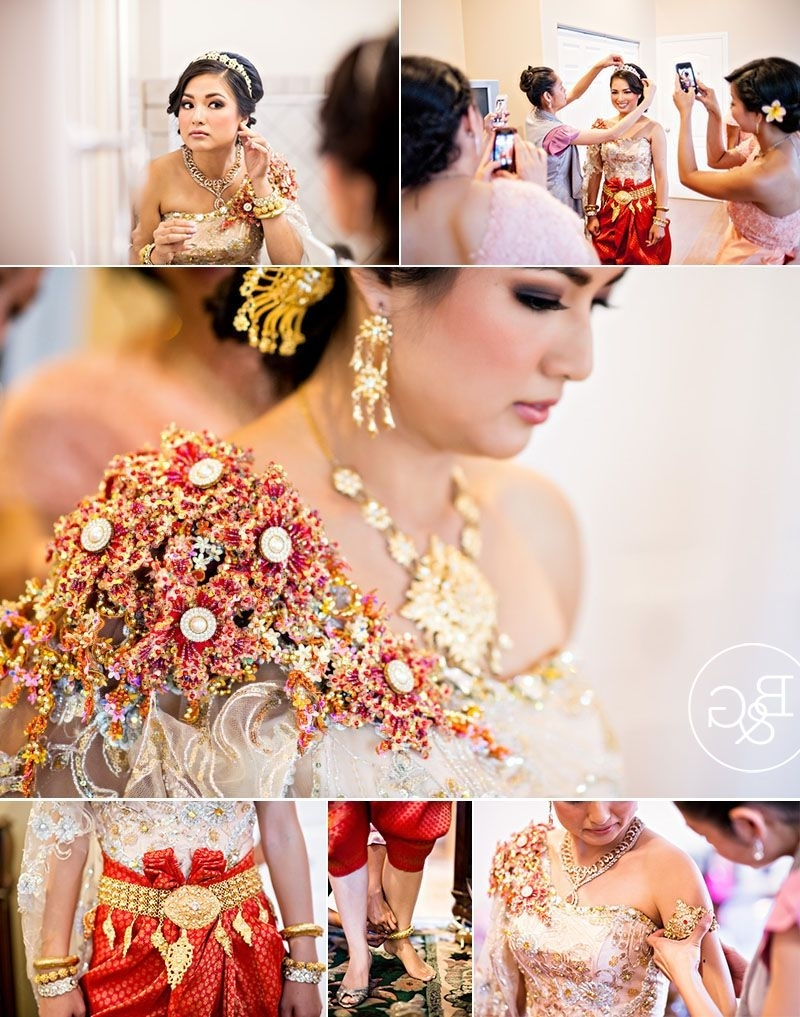 Famous Khmer Wedding Hairstyles Pertaining To Alice & Richard, Khmer Cambodian Wedding Ceremony, Los Angeles (View 2 of 15)
