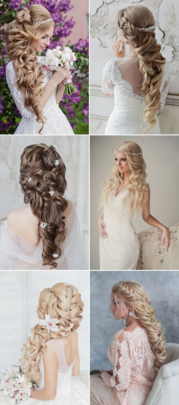 Famous Long Wedding Hairstyles With Flowers In Hair Throughout 23 Glamorous Bridal Hairstyles With Flowers – Pretty Designs (View 9 of 15)