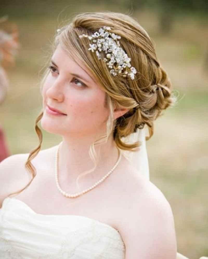 Famous Medium Length Straight Hair Wedding Hairstyles With Regard To Shocking Wedding Hairstyles Medium Length Straight Hair Pics Of For (View 4 of 15)
