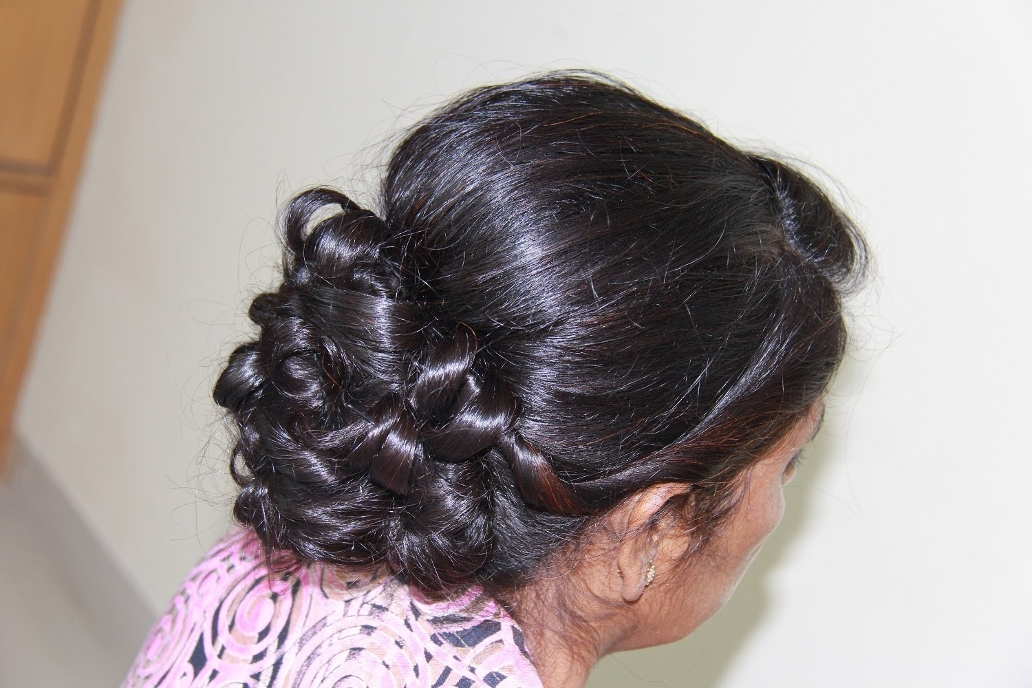 Famous Mother Of The Bride Updo Wedding Hairstyles With Regard To Indian/pakistani Bridal Updo For Medium To Long Hair – Youtube (View 15 of 15)