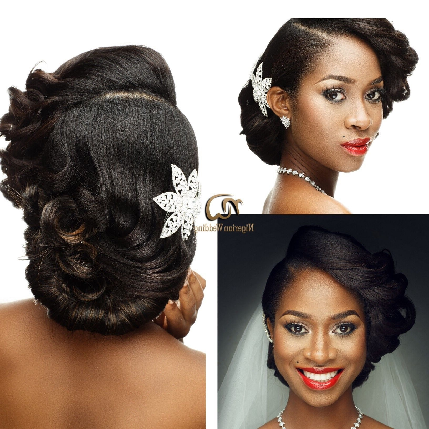 Famous Nigerian Wedding Hairstyles For Bridesmaids For Presents Gorgeous Bridal Hair & Makeup Inspirationunique Berry (View 4 of 15)