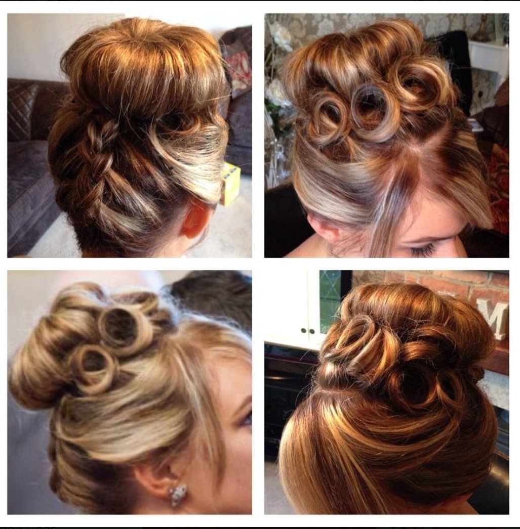 Famous Pin Curls Wedding Hairstyles With Wedding Hair, High Bun, Braided Design, Pin Curls (View 4 of 15)
