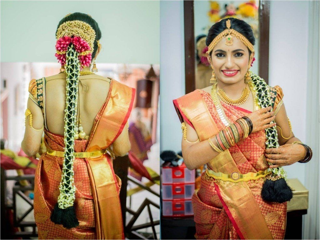 Famous South Indian Tamil Bridal Wedding Hairstyles In Hairstyle Ideas For An Oriya Bride With Long Hair (View 7 of 15)