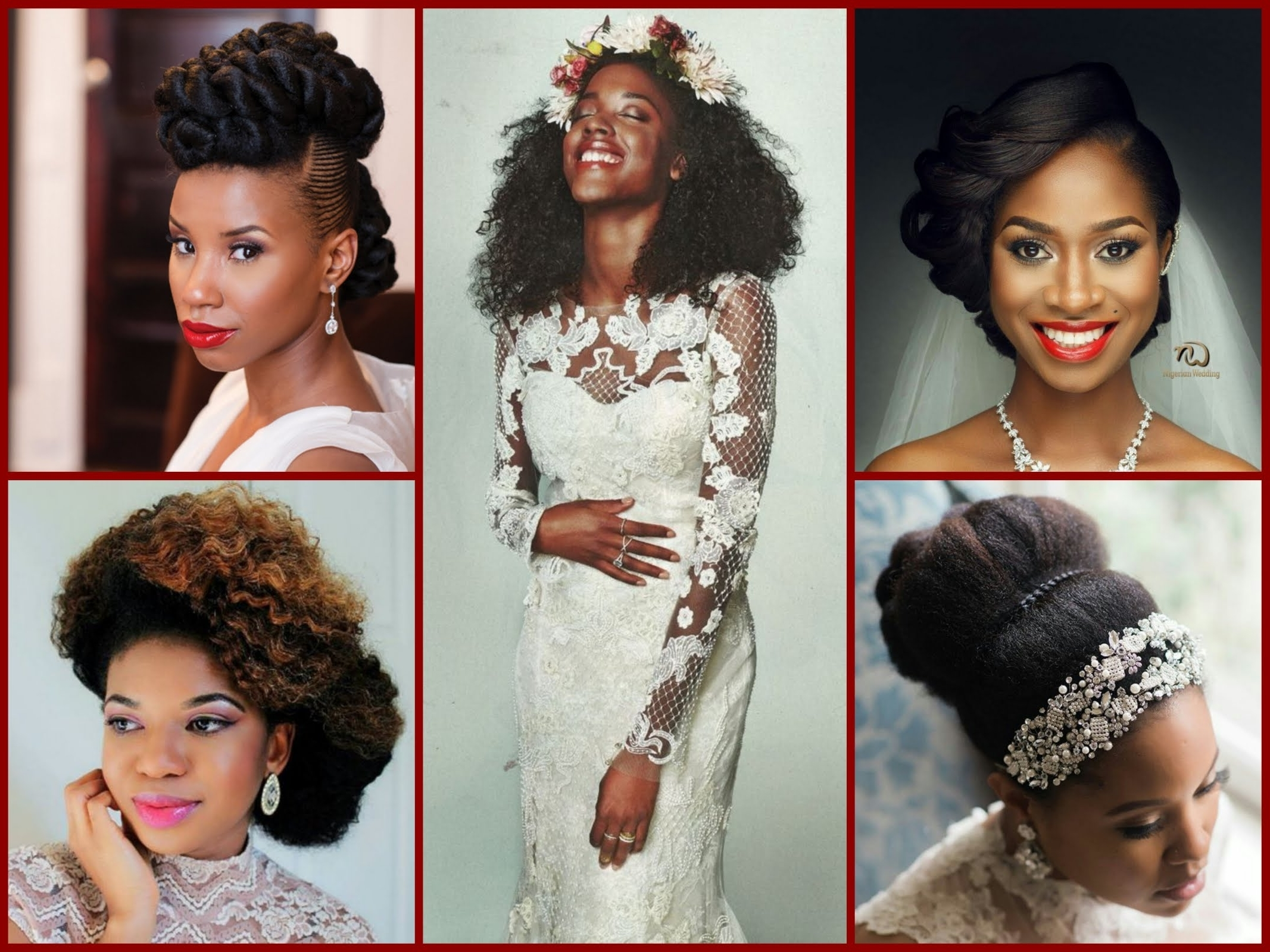 Famous Wedding Hairstyles For Black Girl Pertaining To Black Women Wedding Hairstyles – 40 Beautiful Updos – Youtube (Gallery 1 of 15)
