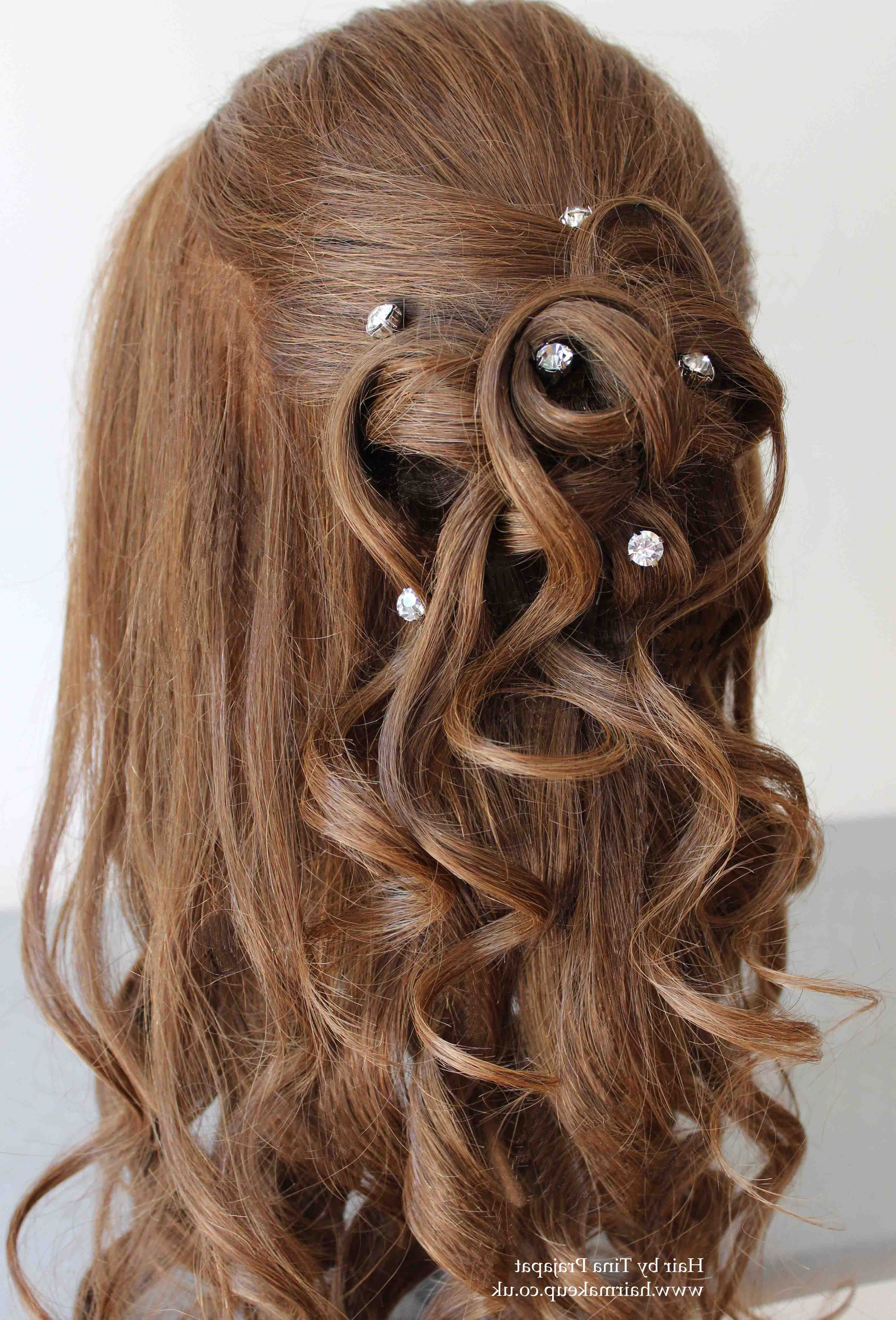Famous Wedding Hairstyles For Down Straight Hair Intended For Transform Half Up Hairstyles For Long Straight Hair On Wedding (View 6 of 15)