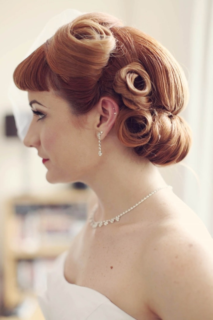 Famous Wedding Hairstyles For Long Hair And Fringe Intended For Wedding Hair : Awesome Wedding Hairstyles For Long Hair With Fringe (View 6 of 15)