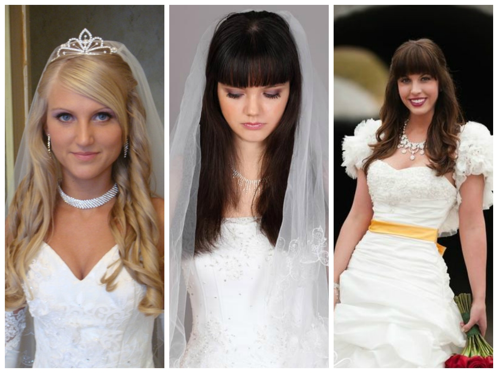 Famous Wedding Hairstyles For Long Hair And Fringe With View Full Gallery Of Best Of Wedding Hair With Fringe – Displaying (View 7 of 15)