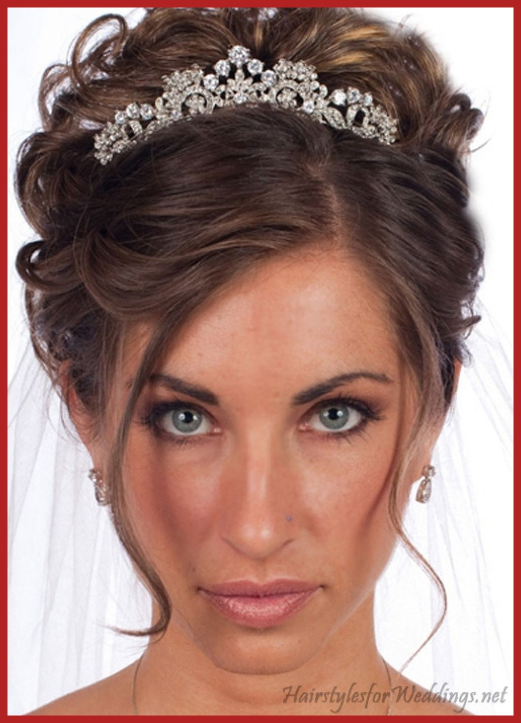 Famous Wedding Hairstyles For Long Hair Down With Veil And Tiara In Fascinating Wedding Hair Updo With Tiara Popular Long Hairstyle Idea (View 14 of 15)