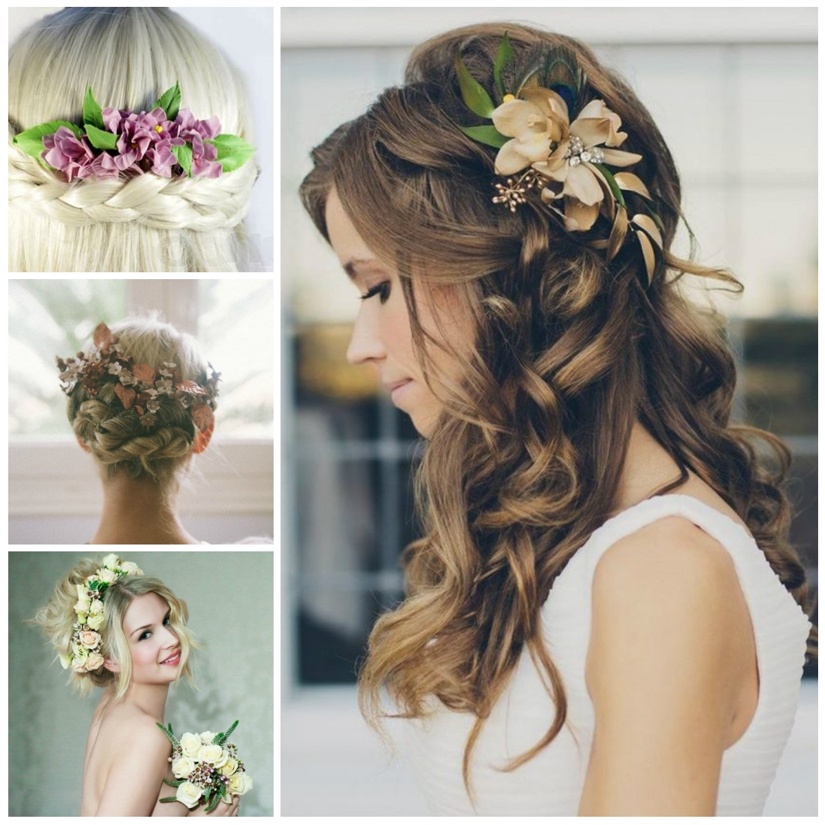 Famous Wedding Hairstyles For Long Hair With Flowers Throughout Wedding Hairstyles With Flowers (View 15 of 15)