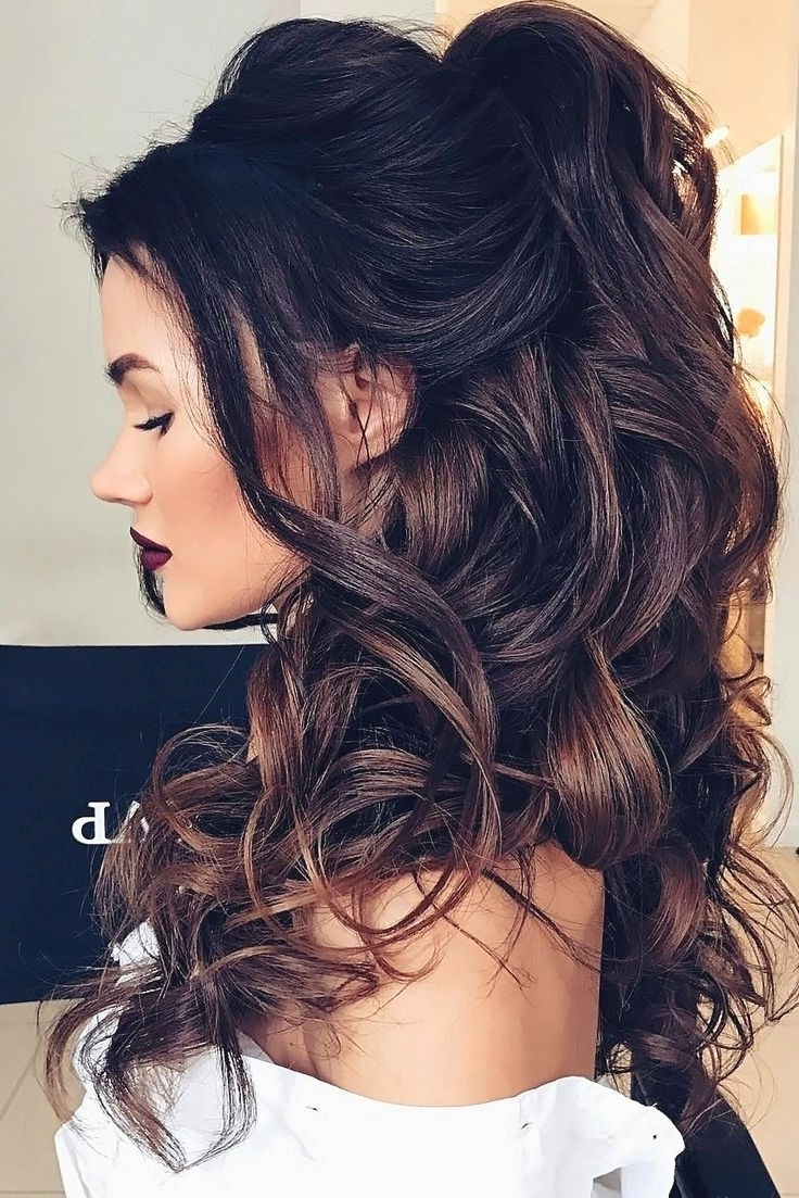 Famous Wedding Hairstyles For Medium Length Dark Hair In Dark Hair Wedding Hairstyles (View 5 of 15)