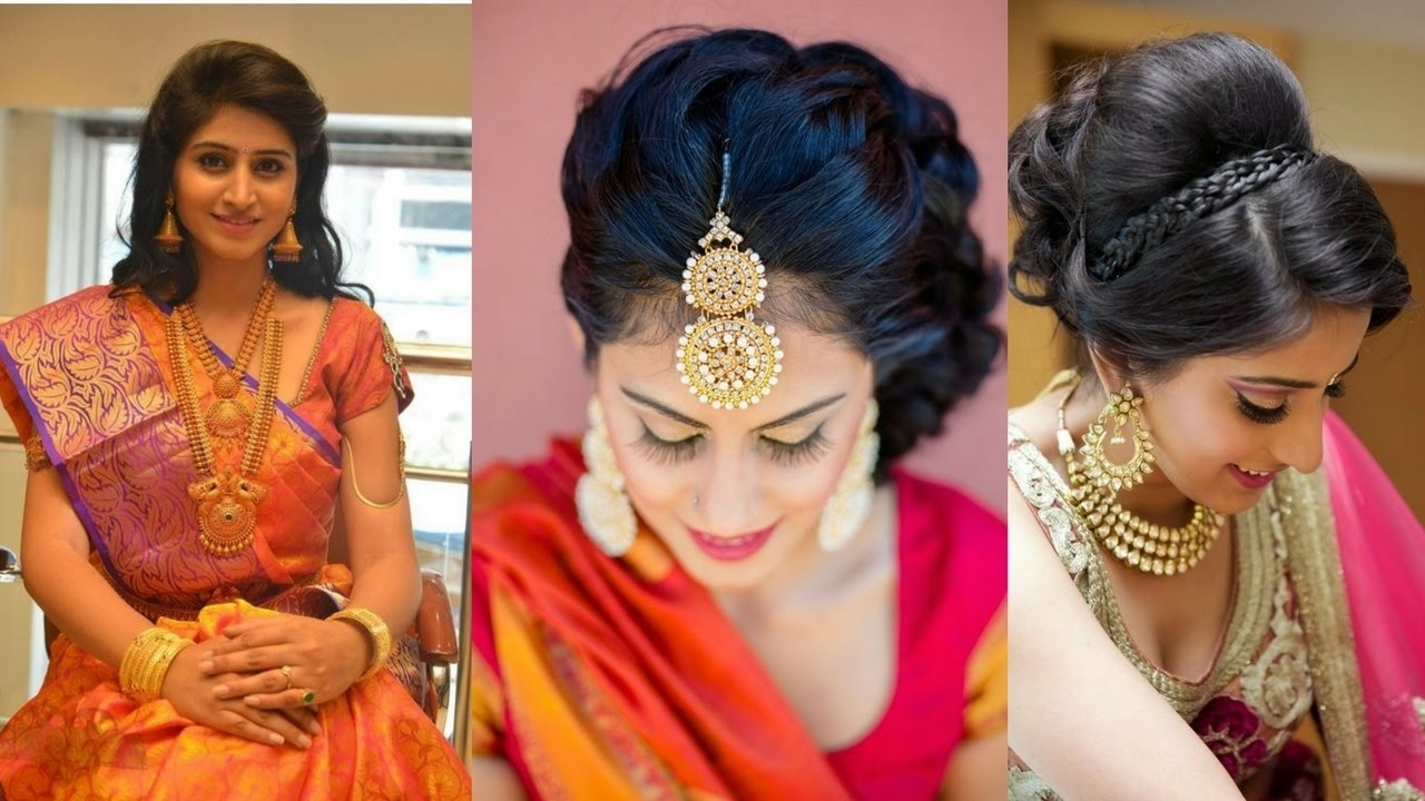 Featured Photo of Wedding Hairstyles For Sarees