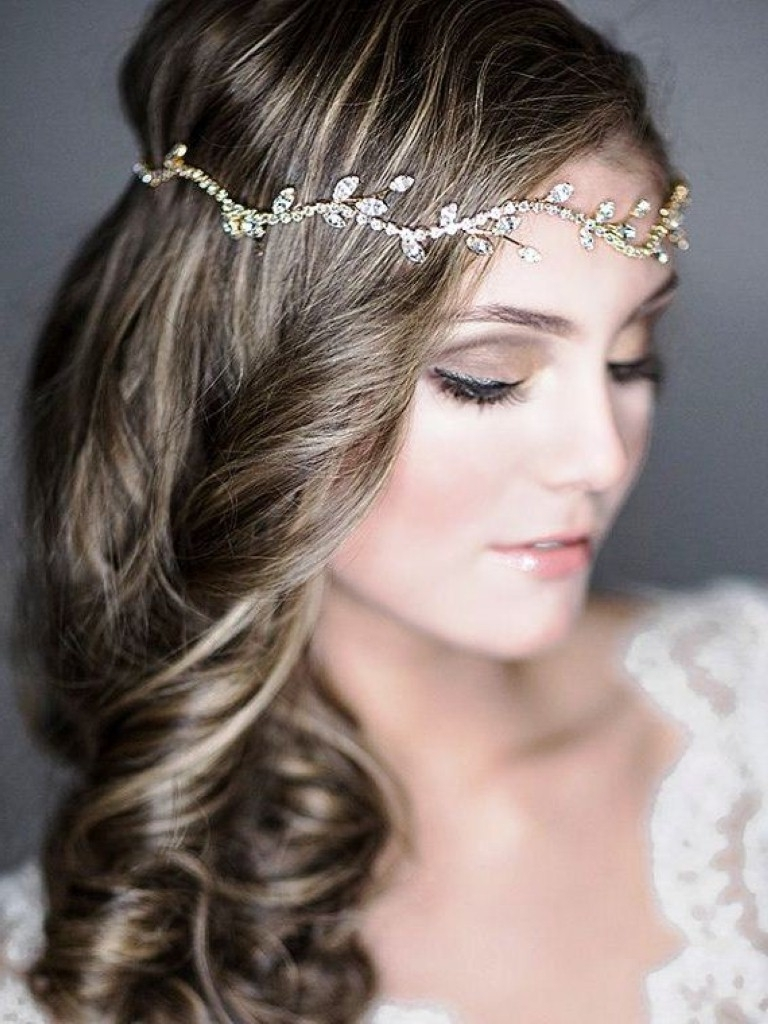 Famous Wedding Hairstyles For Straight Mid Length Hair In Wedding Hairstyles For Medium Length Hair Down With Bangs Shoulder (View 6 of 15)