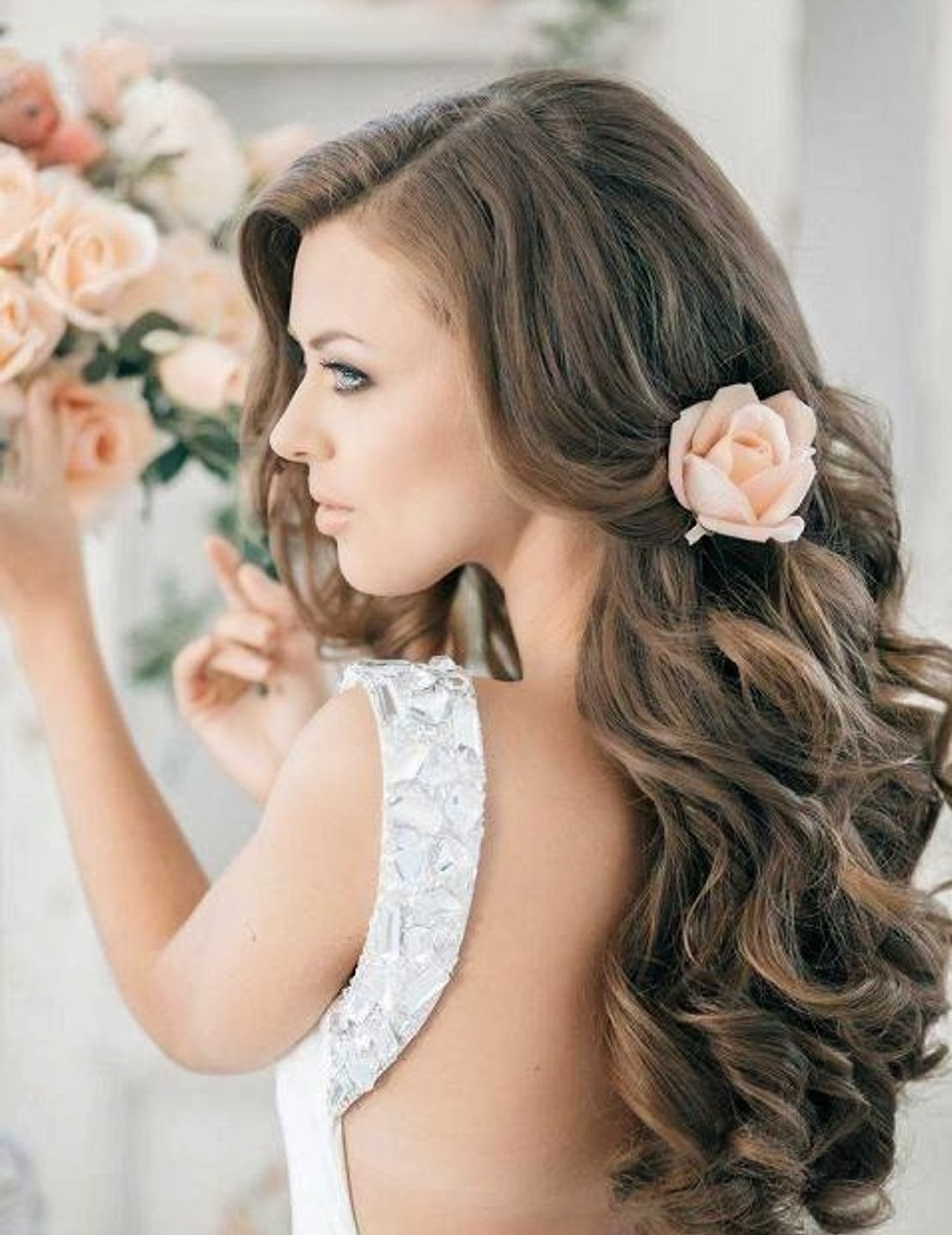 Famous Wedding Hairstyles Like A Princess In Wedding Hairstyles Down That Will Make You Feel Like A Princess (View 7 of 15)