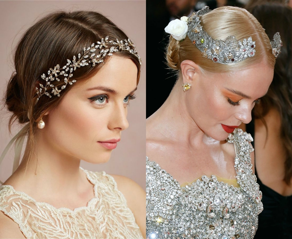Famous Wedding Hairstyles With Jewelry Regarding Wedding Hairstyles & Accessories To Make You Look Like A Princess (View 10 of 15)