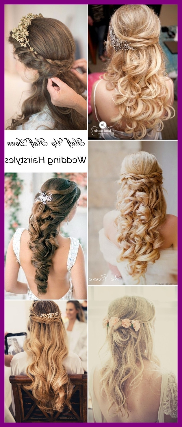 Fascinating Half Up Down Wedding Hairstyles Tulle U Chantilly Pict Throughout Latest Half Up Half Down Wedding Hairstyles (View 5 of 15)