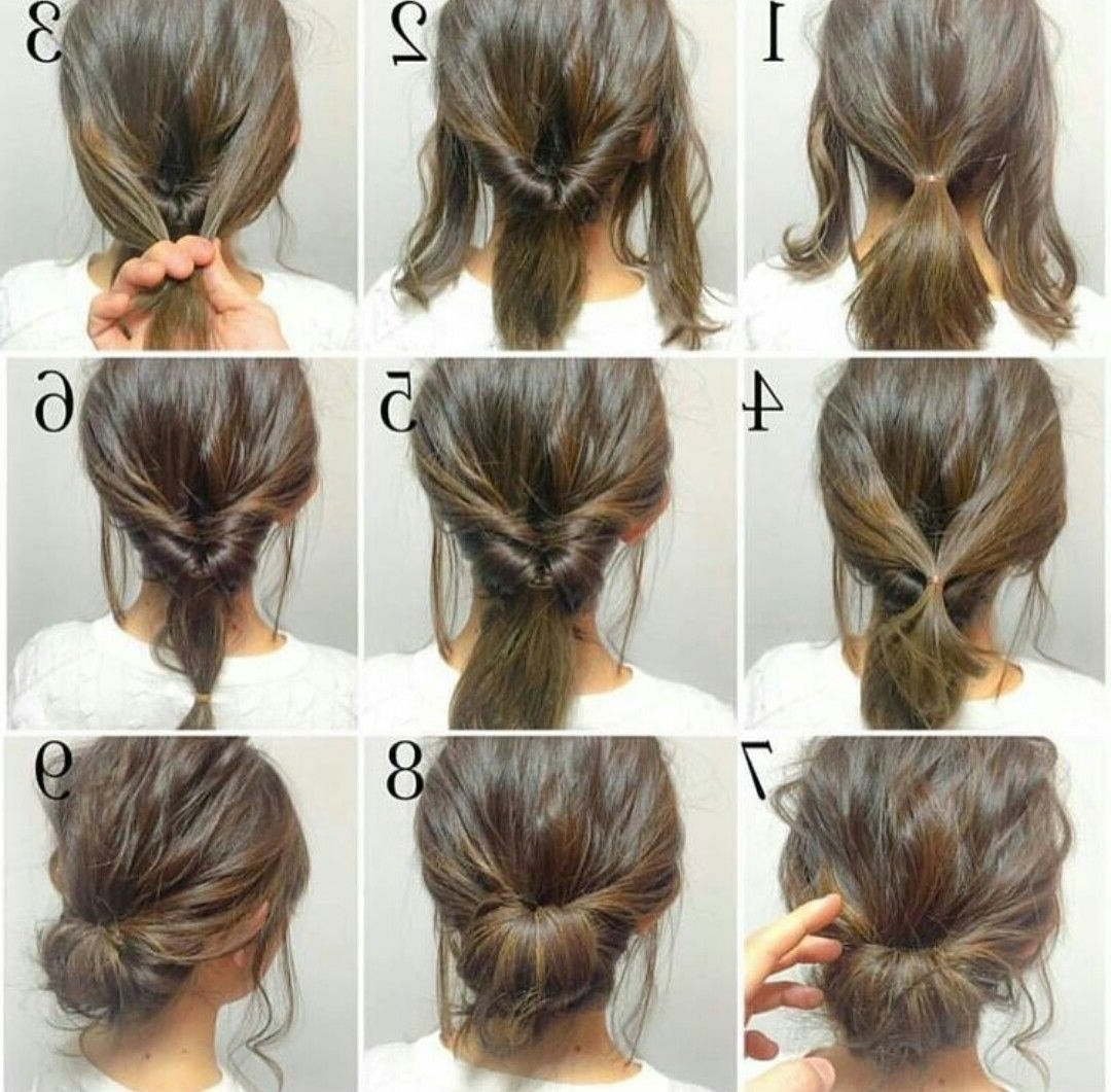 Fashionable Easy Bridal Hairstyles For Short Hair In Peinado Sencillo / Easy Hairstyle (View 5 of 15)