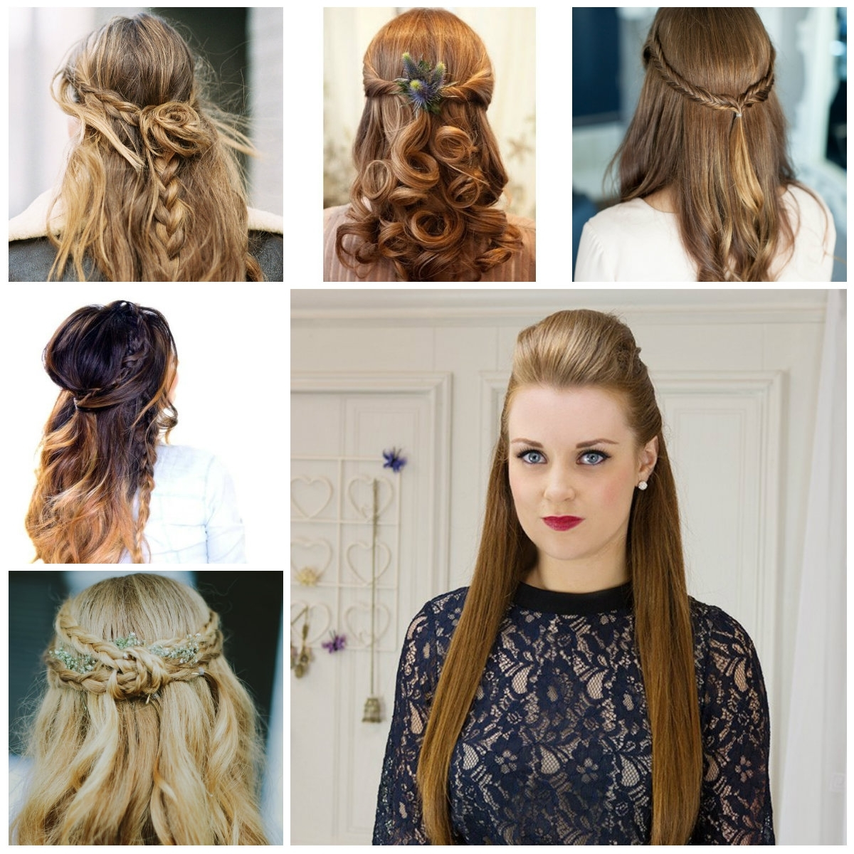 Wedding Hairstyle For Long Hair Tutorial: 15 Inspirations Of Easy Wedding Hairstyles For Long