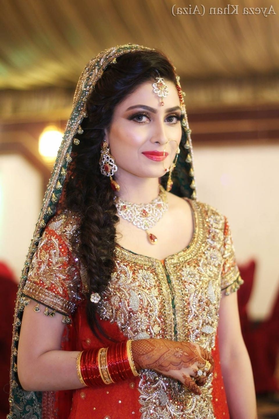 Fashionable Pakistani Wedding Hairstyles Within Pakistani Wedding Hairstyle Pakistani Wedding Hairstyles For Short (View 3 of 15)