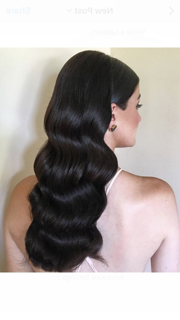 Fashionable Vintage Wave Wedding Hairstyles Regarding Bridal Hairstyles / Vintage Waves Hairbridal Hair Couture (View 4 of 15)